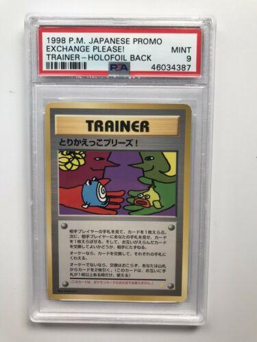 Pokemon Japanese 1998 Promo Exchange Please Holofoil Back PSA Mint 9