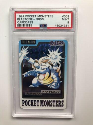 Pokemon Japanese 1997 Pocket Monster Carddass Prism Blastoise PSA Mint 9