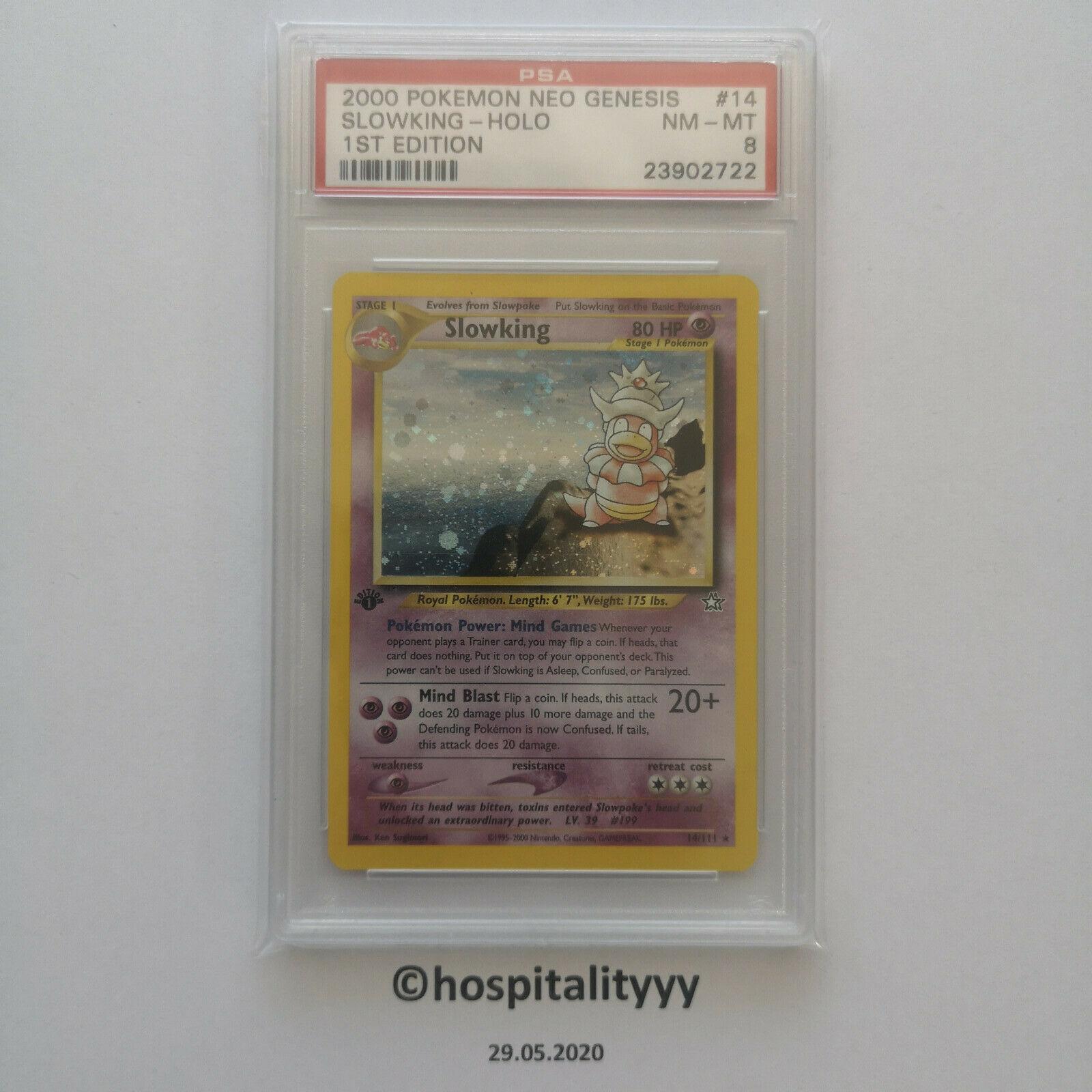 Pokemon Slowking 1st Edition PSA 8 Holo Neo Genesis