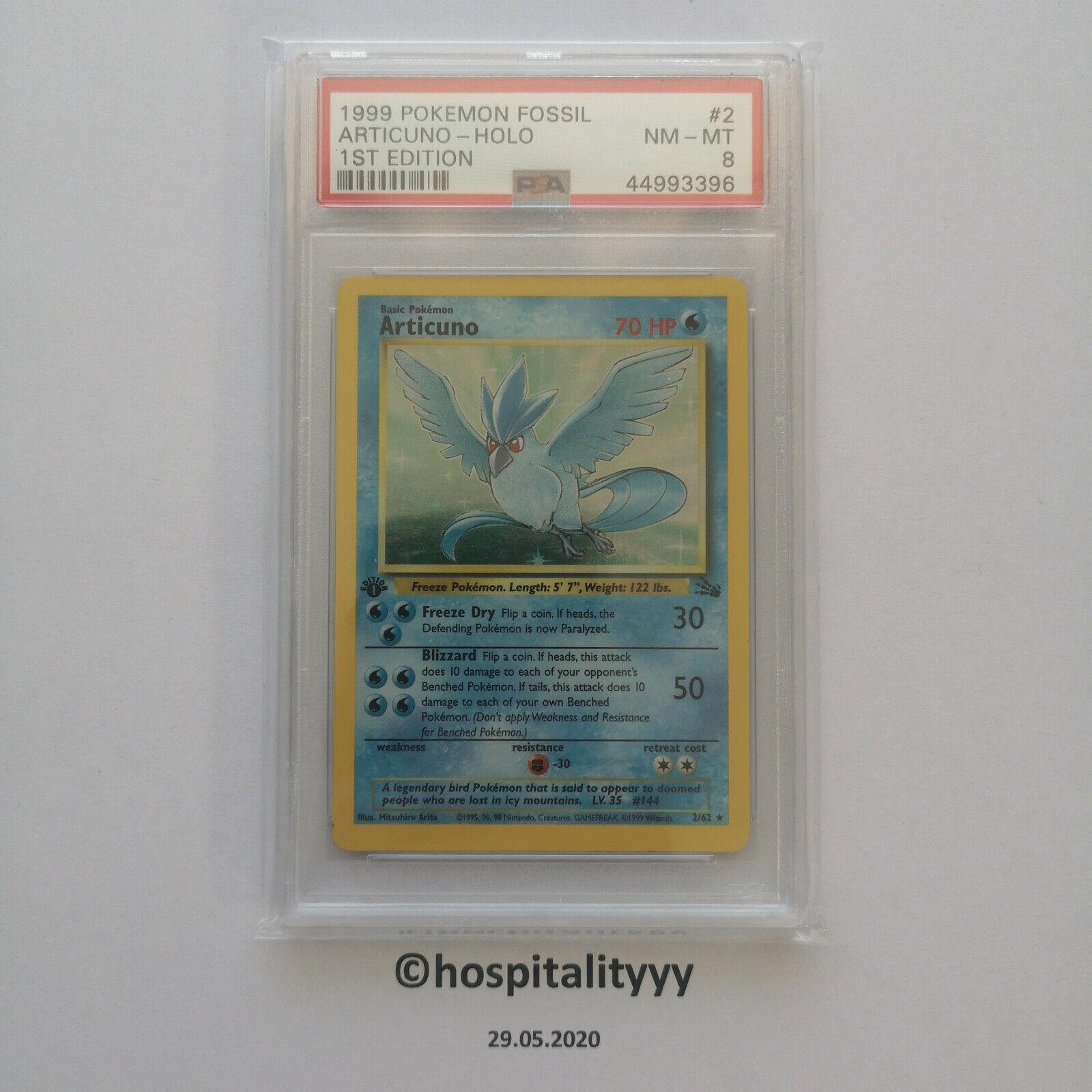 Pokemon Articuno 1st Edition PSA 8 Holo Fossil