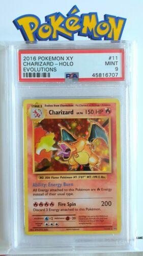 Charizard XY Holo Evolutions  PSA 9  Pokemon Card  MINT  No Reserve