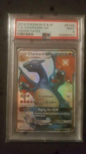 2019 Pokemon Hidden Fates Shinny Charizard GX SV49 PSA MINT 9