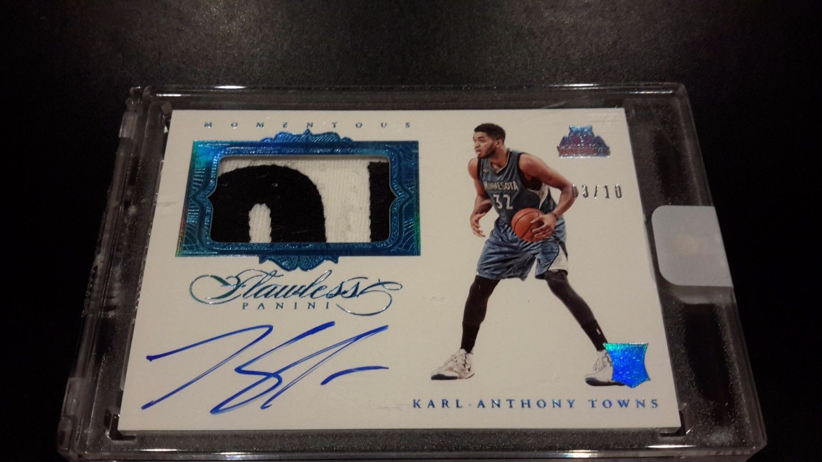201516 KARLANTHONY TOWNS FLAWLESS ROOKIE PATCH AUTO 10 LETTERS RPA KAT