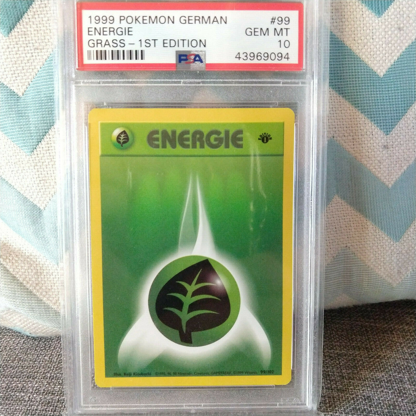 Pokemon Energie Energy Edition 1 Gras grass PSA 10 GEM MINT