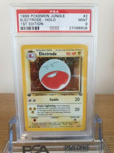 PSA 9 MINT 1st Edition Electrode Holo 264  Jungle Pokemon Card