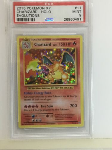 Charizard Holo  XY Evolutions 11108  PSA 9 Mint Pokemon Card