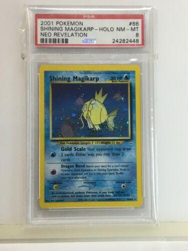 Shining Magikarp 6664 Holo Neo Revelation PSA 8 NMMT Pokemon Card