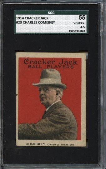 Charles Comiskey HOF 1914 Cracker Jack  23  SGC 55