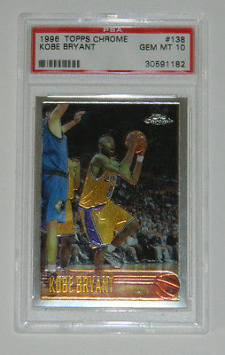 199697 KOBE BRYANT TOPPS CHROME 138 PSA 10 MINT RC ROOKIE CARD