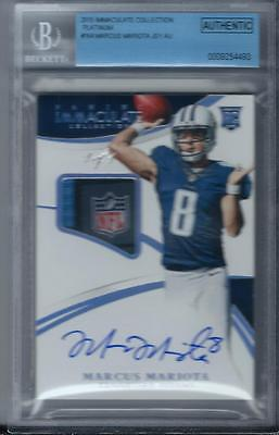 2015 Immaculate MARCUS MARIOTA Auto NFL Shield Tag 11 platinum rc rookie 164