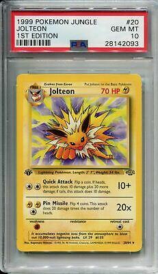 Pokemon Jungle 1st Edition Card 20 Jolteon PSA 10
