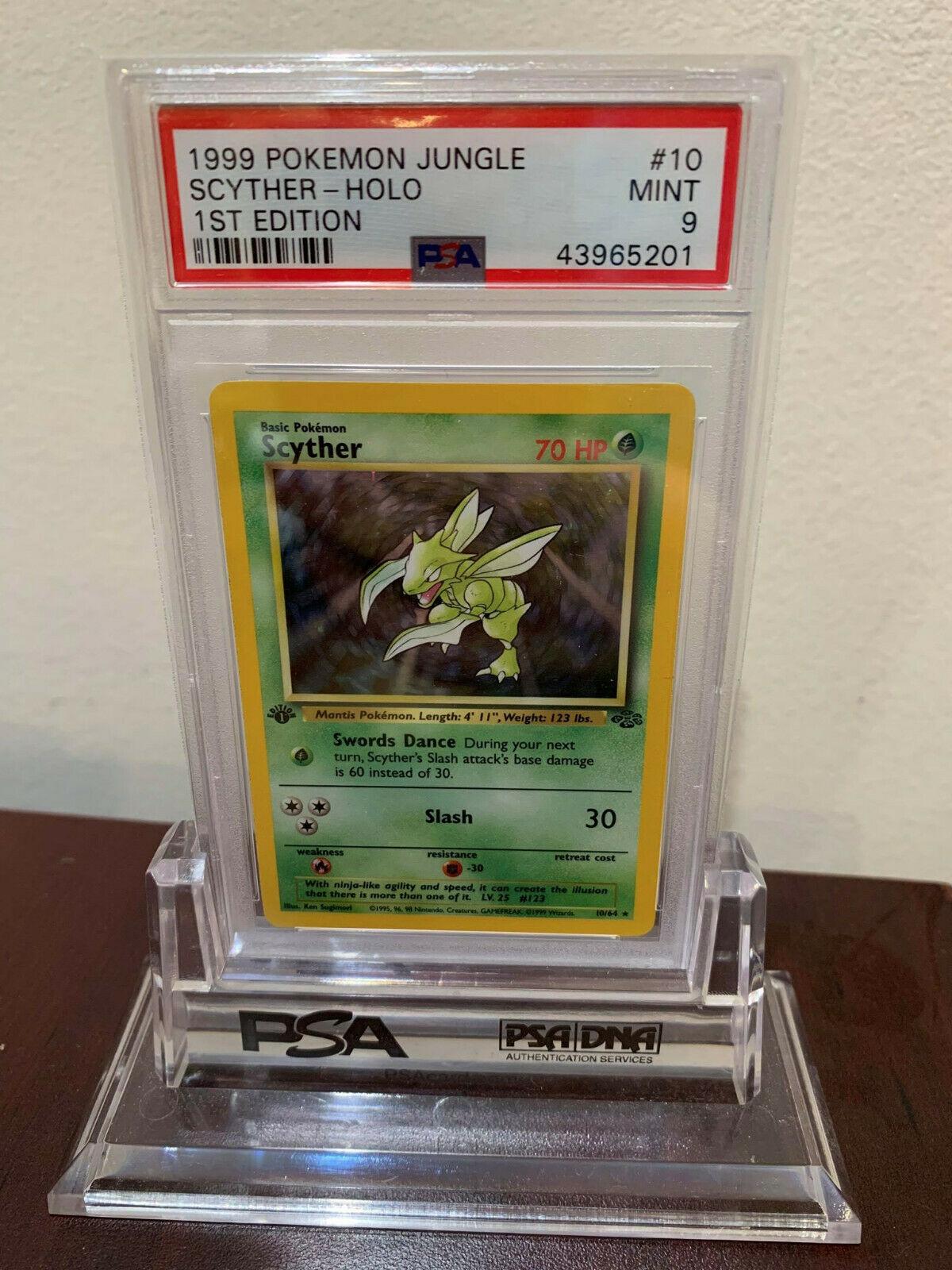 PSA 9 Holo 1st Edition Scyther Jungle Pokemon Card 1064