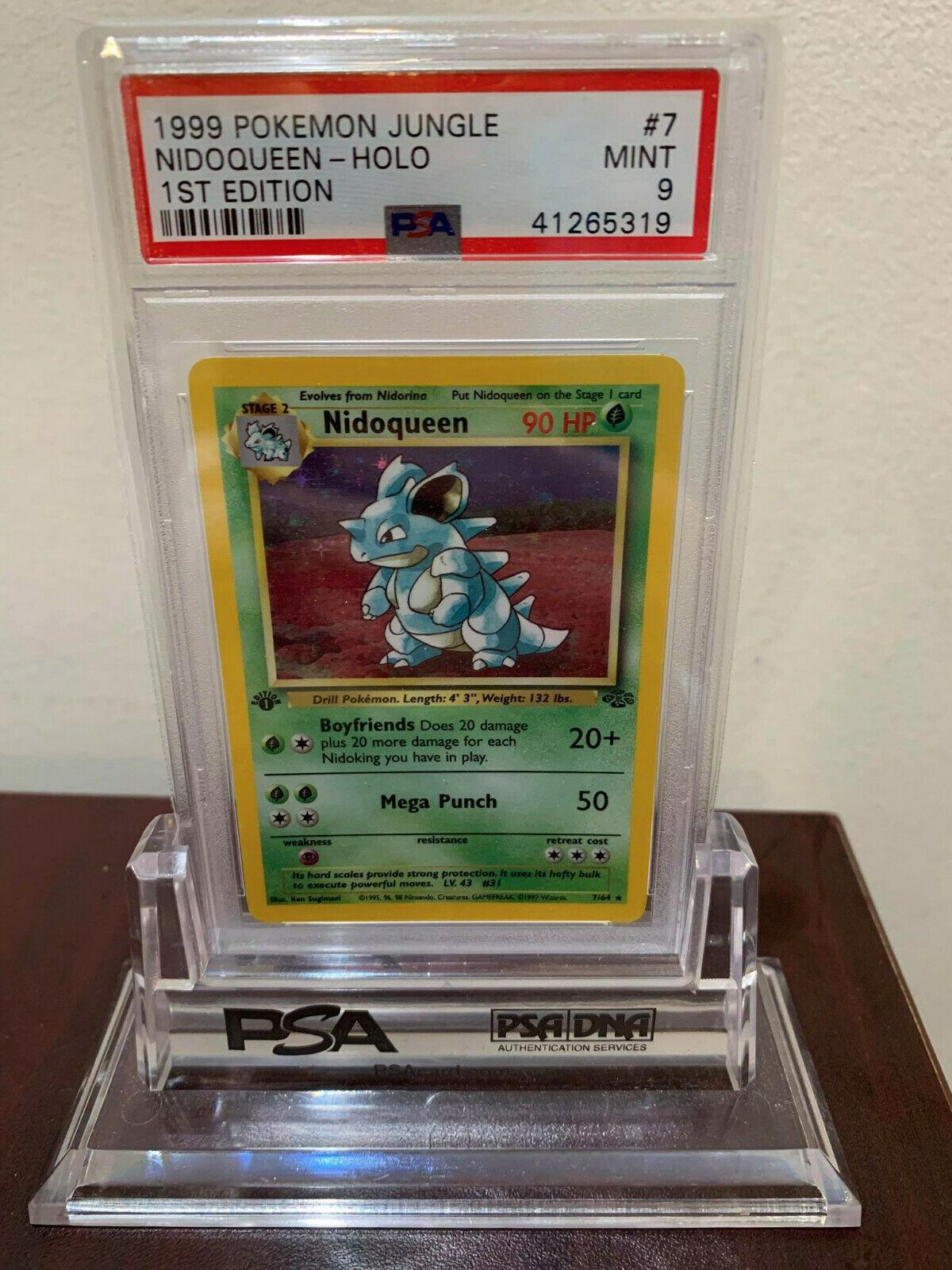 PSA 9 Holo 1st Edition Nidoqueen Jungle Pokemon Card 764