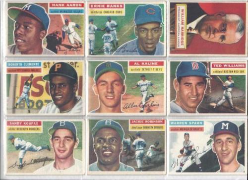 1956 Topps Baseball Near Complete Set w All Stars Missing 1 Common Lot 306