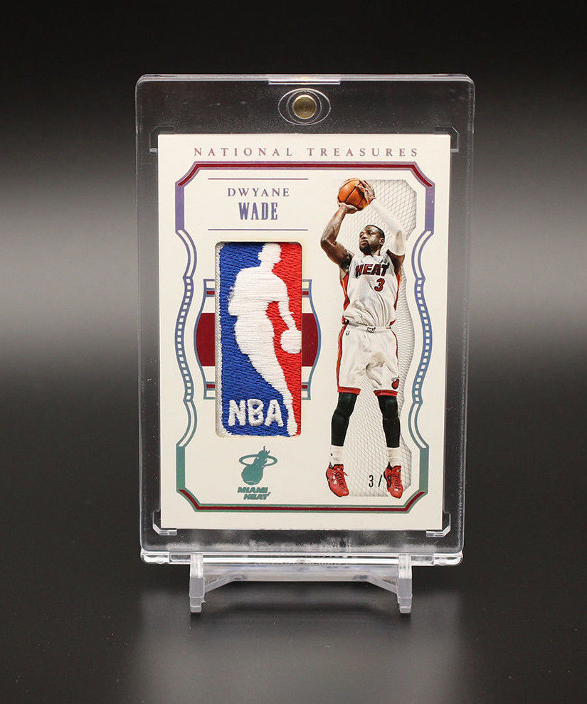 201516 Panini National Treasures NBA Logoman Dwyane Wade 33 Jersey 11