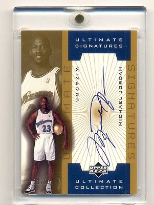 200102 Upper Deck Ultimate Collection Michael Jordan Gold Auto Autograph 123