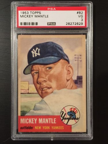1953 Topps Mickey Mantle PSA 3