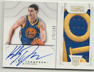 201213 PANINI NATIONAL TREASURES KLAY THOMPSON ROOKIE PATCH AUTO AMAZING PATCH