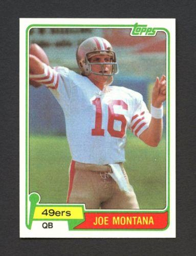 1981 Topps 216 Joe Montana San Francisco 49ers HoF ROOKIE RC  CENTERED  MINT