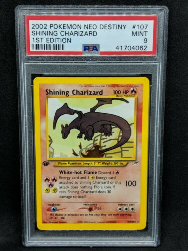 Shining Charizard 1st edition Holo Strong PSA 9 Neo Destiny 2002 Pokemon Card