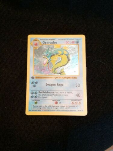 Pokemon 1st Edition Shadowless Gyarados Holofoil Card WTC