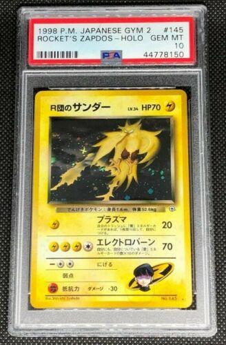ROCKETS ZAPDOS 145 PSA 10 GEM MINT POKEMON JAPANESE GYM CHALLENGE 2 HOLO CARD