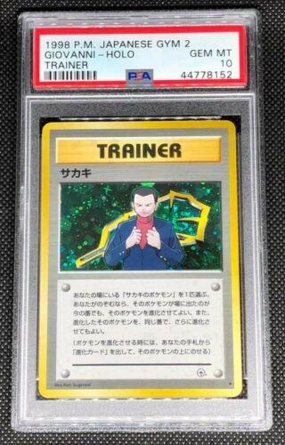 GIOVANNI TRAINER  PSA 10 GEM MINT POKEMON JAPANESE GYM CHALLENGE 2 HOLO CARD
