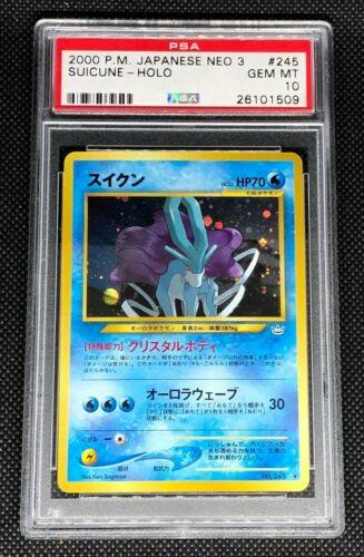 SUICUNE 245  PSA 10 GEM MINT POKEMON JAPANESE NEO REVELATION 3 HOLO CARD