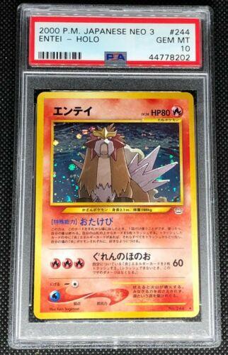ENTEI 244  PSA 10 GEM MINT POKEMON JAPANESE NEO REVELATION 3 HOLO CARD