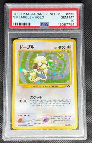 SMEARGLE 235  PSA 10 GEM MINT POKEMON JAPANESE NEO DISCOVERY 2 HOLO CARD