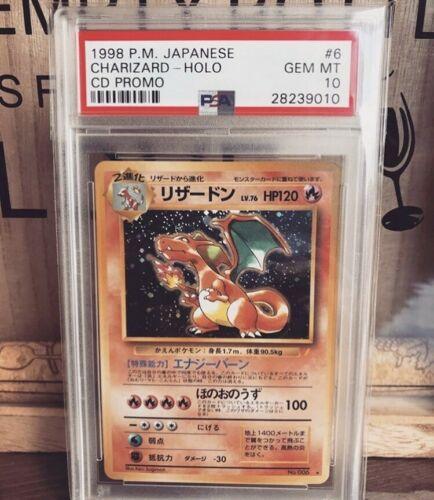 Pokemon Psa 10 Charizard Cd Promo Japanese Base Strong 10