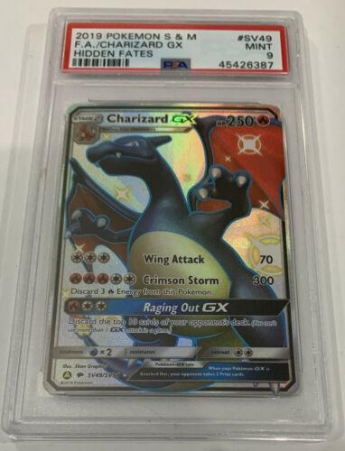 PSA 9 MINT CHARIZARD GX Full Art Pokemon Hidden Fates SV49SV94 Shiny Vault