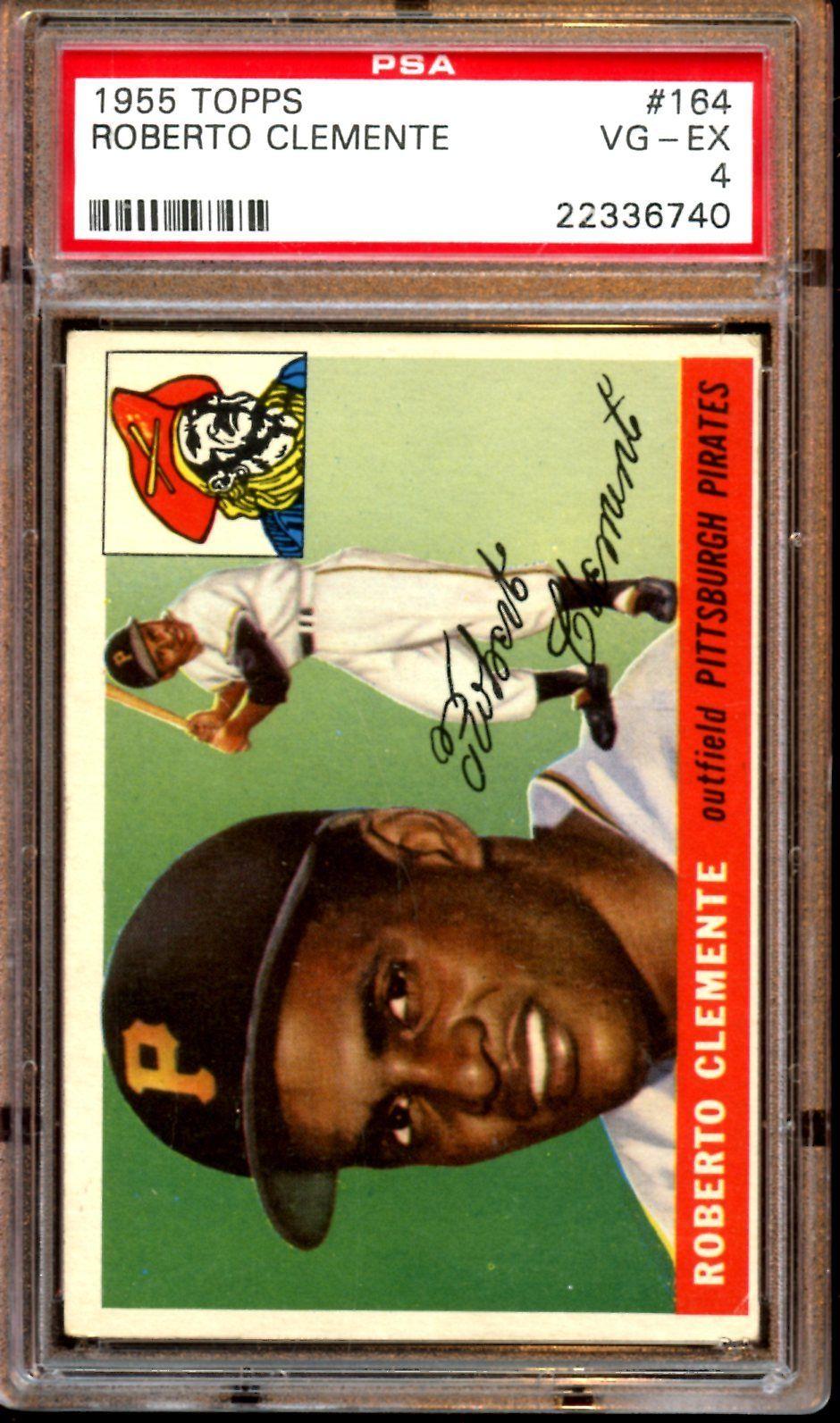 1955 Topps Baseball Card 164 Roberto Clemente Rookie PSA 4 VGEX