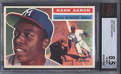 1956 Topps 31 Hank Aaron Braves BGS BVG 85 617978