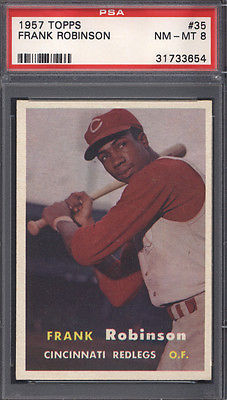 1957 Topps 35 Frank Robinson Rookie HOF Reds PSA 8 617957