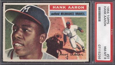 1956 Topps 31 Hank Aaron Braves PSA 8 Well Centered 618699