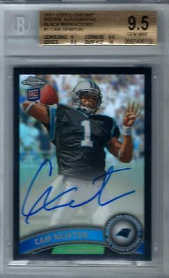 2011 Topps Chrome CAM NEWTON Auto rc rookie Black Refractor 625 BGS 9510