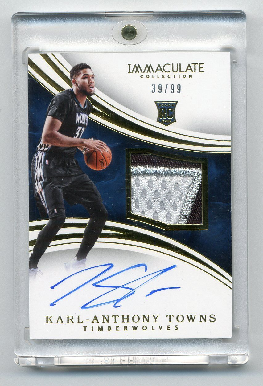 KarlAnthony Towns 201516 Immaculate Collection RC Auto Patch RPA 3999