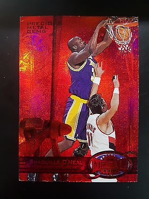 199798 Metal Universe Precious Metal Gems PMG Red Shaquille ONeal 068100 L9