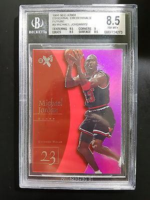 199798 EX2001 Essential Credentials Future Michael Jordan 6772 BGS 85 O7