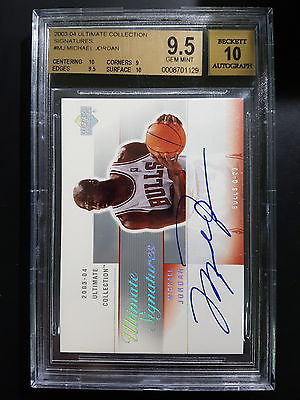 200304 Ultimate Collection Signatures Michael Jordan Auto BGS 95 10x2 Subs O7