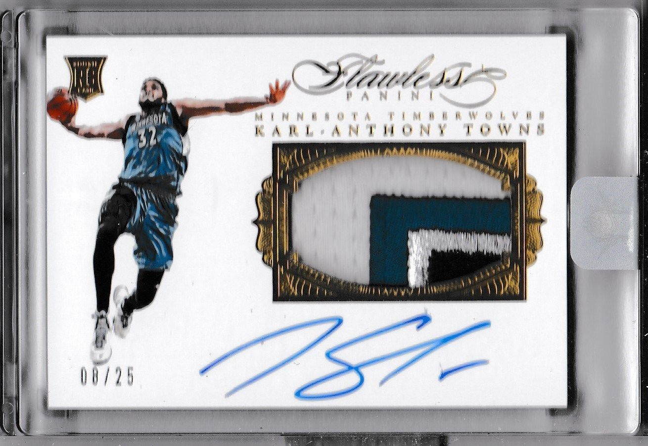 KarlAnthony Towns 1516 Flawless RC Auto Jersey Patch 0825