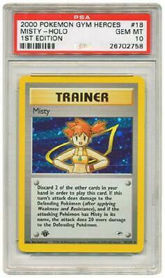 Misty  18132  PSA GEM MT 10  Holo Rare 1st Edition Gym Pokemon Card 3DY
