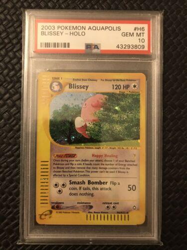 H6147 Blissey  PSA 10 Gem MT Pop 10  Pokemon TCG Aquapolis 2003