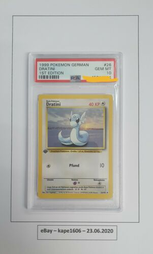Pokemon Karte  PSA 10  DRATINI  1 Edition 26102  1999 Base