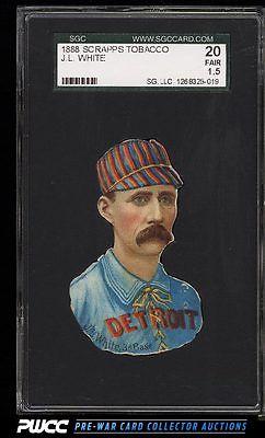 1888 Scrapps DieCuts Deacon White SGC 1520 FR PWCC