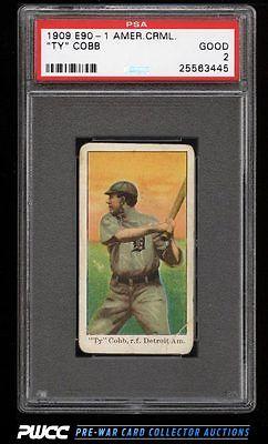 1909 E901 American Caramel Ty Cobb PSA 2 GD PWCC