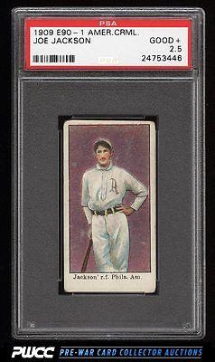 1909 E901 American Caramel Shoeless Joe Jackson ROOKIE RC PSA 25 GD PWCC