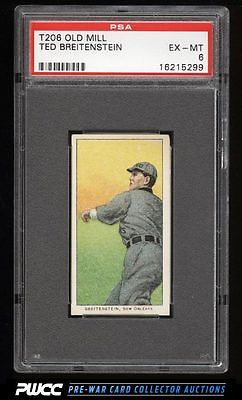 190911 T206 Ted Breitenstein SOUTHERN LEAGUER OLD MILL PSA 6 EXMT PWCC