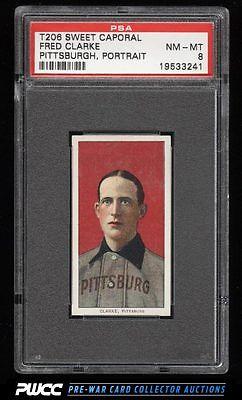 190911 T206 Fred Clarke PITTSBURGH PORTRAIT PSA 8 NMMT PWCC